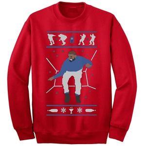 Hotline Bling Drake Ugly Christmas Sweater Crew